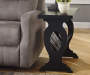 BRAUNSEN BLACK CHAIRSIDE END TABLE