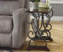 BRAUNSEN BROWN CHAIRSIDE END TABLE