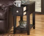 BREEGIN ALMOST BLACK CHAIRSIDE END TABLE