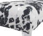 BROOKLEE BLACK AND WHITE ACCENT BENCH
