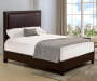 BROWN PU SQUARE BED