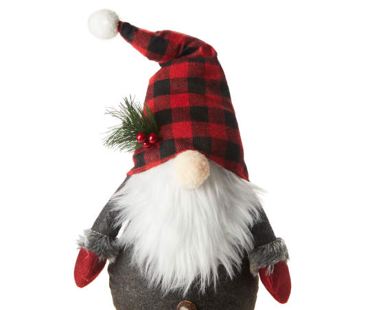 Winter Wonder Lane Buffalo Plaid Gnome Plush Shelf Sitter Big Lots