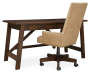 Baldridge Brown Desk silo angled with chair prop