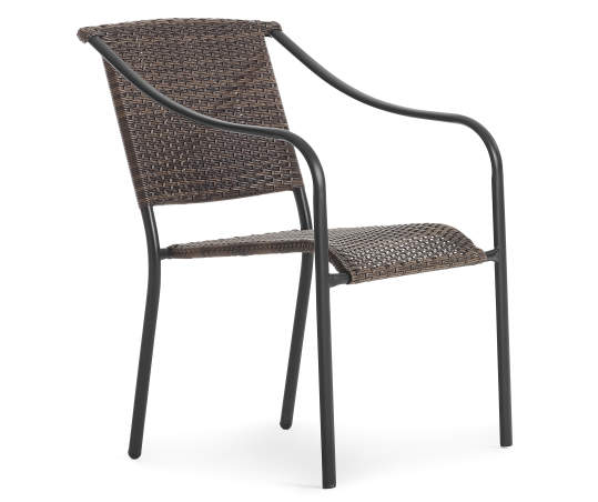 Wilson Fisher Baldwin All Weather Wicker Stacking Outdoor Dining Chair Big Lots