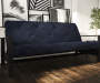 Baxter Navy Blue Coil Futon lifestyle living room