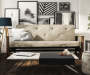 Baxter Tan Coil Futon lifestyle living room