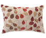 Bayberry Rouge Jacquard Lumbar Decorative Pillow Front View Silo Image