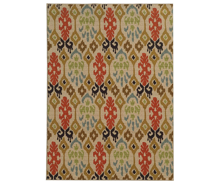 Bedford Beige Area Rug 5FT3IN x 7FT3IN Silo Image