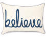 Believe Lumbar Throw Pillow 13 inch x 18 inch silo front