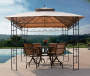 Belvedere Gazebo Replacement Canopy 10 Feet by 10 Feet Outdoor Setting Lifestyle Image
