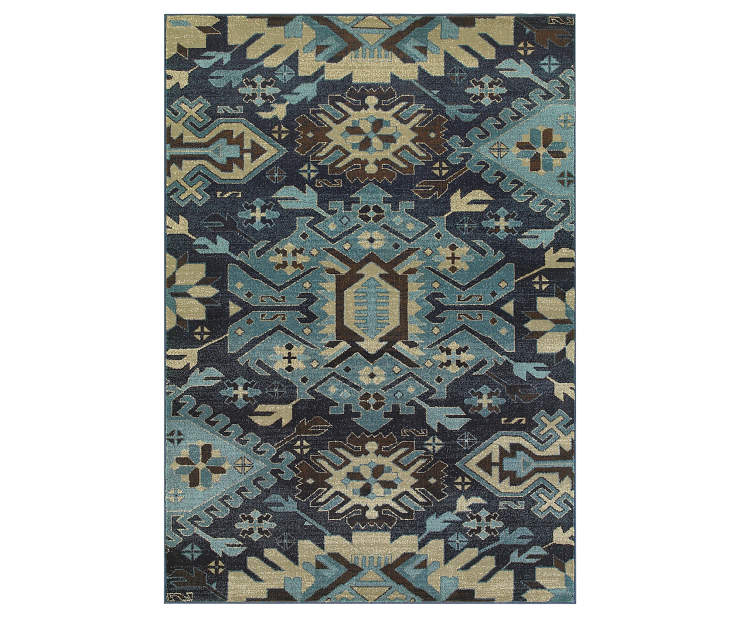 Benton Navy Area Rug 3FT10IN x 5FT5IN Silo Image