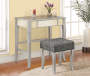 Betty Silver Mirror Vanity Set with Stool lifestyle