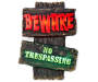 Beware No Trespassing LED Pathway Sign silo front