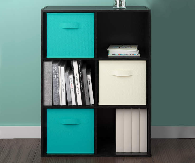 Black  6-Cube Storage Cubby Room View