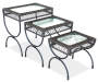 Black 3 Piece All Weather Wicker Nested End Table Set silo angled