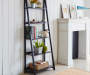 Black 5 Shelf Ladder Bookcase lifestyle