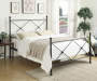 Black All in One X  Queen Metal Bed silo front bedroom setting