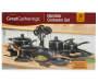 Black Aluminum Cookware 30 Piece Set in packaging silo image