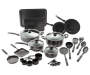 Black Aluminum Cookware 30 Piece Set silo front out of package