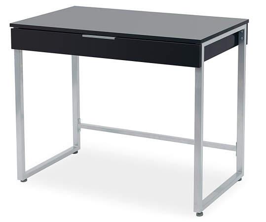 Just Home Black Silver 1 Drawer Desk Big Lots