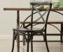 Black Antique Distressed Metal Dining Chair lifestyle