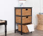 Black Basket Storage Tower lifestyle