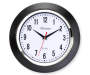 Black Clock with Chrome Trim 10 Inches Overhead View Silo Image