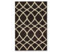 Black Contemporary Shag Accent Rug 20 x 34 SIlo