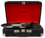 Black Cruiser Bluetooth Portable Suitcase Turntable silo front