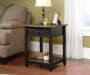 Black Edge Water 1-Drawer End Table