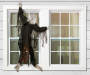 Black Gauze Hanging Zombie Climbing Dead 5 feet environment on window
