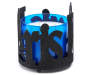 Black Glitter Paris Candle Sleeve Silo Side View With Blue Candle