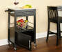 Black Granite Top Kitchen Cart with Storage lifestyle