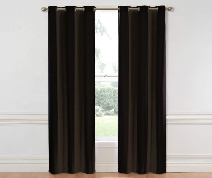 Black Hampton Curtain Panel 84 Inch on Window Room View
