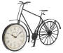 Black Metal Bicycle Tabletop Clock Silo Angled View