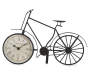 Black Metal Bicycle Tabletop Clock Silo Side View
