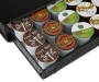 Black Metal Coffee Pod Drawer 36 Count silo front