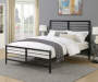Black Metal Lattice Queen Bed lifestyle bedroom
