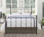Black Metal Post Queen Bed lifestyle bedroom with comforter