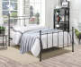 Black Metal Post Queen Bed lifestyle bedroom