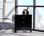 Black Mirror 3 Drawer Accent Chest lifestyle bedroom