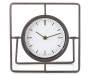 Black Modern Square Metal Clock Silo Front View
