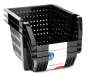 Black Small Stacking Bins, 3-Pack
