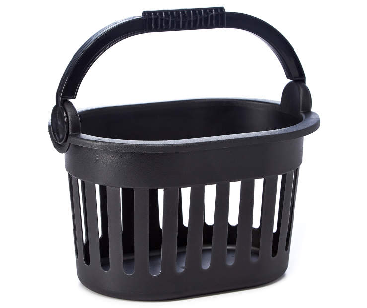 Black Storage Basket silo front