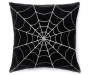"Black Web Throw Pillow, (16"")"