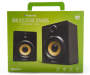 Black Wooden Bluetooth Stereo Speakers In Package Silo Image