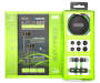 Black and Green Bluetooth Earbuds with Case Whole Package Contents Silo