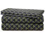 Black and Green Triangles Queen 4 Piece Sheet Set silo front