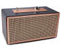 Black and Rose Gold Retro Bluetooth Wireless Speaker silo angled