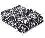 Black and White Fair Isle Sherpa Throw Folded with Corner Down Silo Image